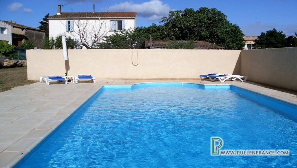 Charming Detached Village House With Garden And Private Pool In Charming Corbieres Village