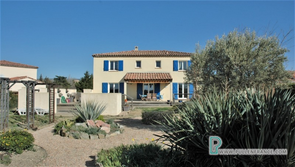 Contemporary Villa With Large Garden And Spectacular Views In The Highly-Sought After Village of Siran, Herault